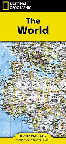 World Map [Folded] Wall Maps EVMAPLINK