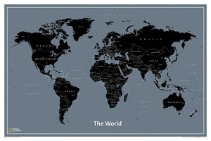 World Modern Map Wall Maps EVMAPLINK Tubed