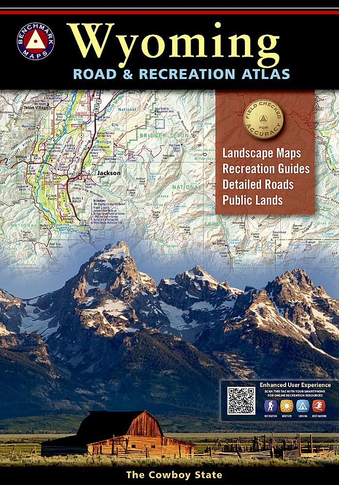 Wyoming Road & Recreation Atlas Benchmark Maps EVMAPLINK
