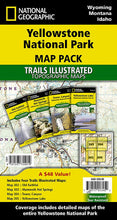 Load image into Gallery viewer, Yellowstone National Park [Map Pack Bundle] Trails Illustrated Maps Bundle EVMAPLINK
