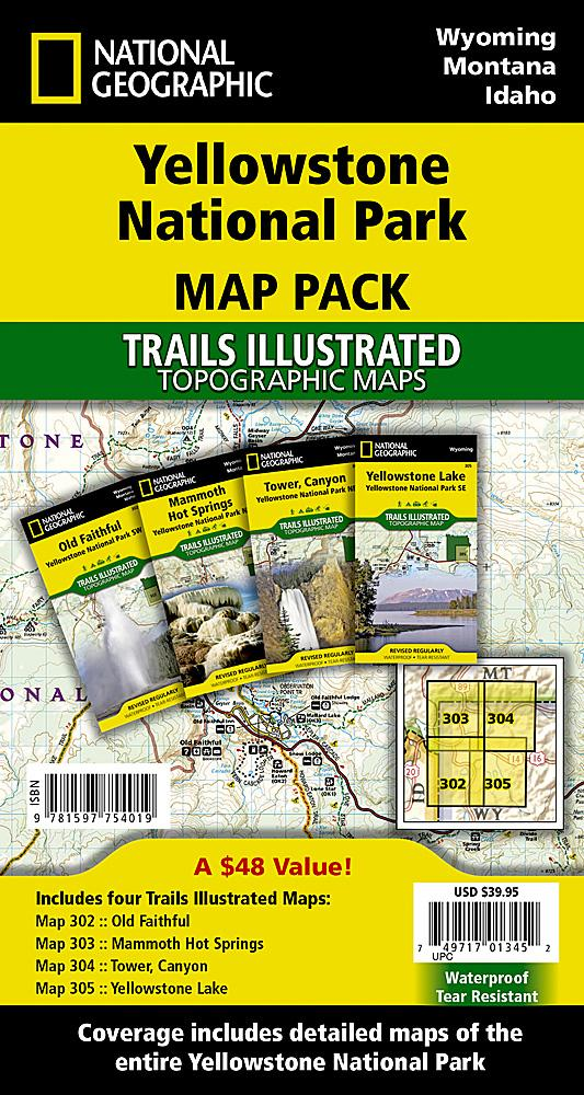 Yellowstone National Park [Map Pack Bundle] Trails Illustrated Maps Bundle EVMAPLINK