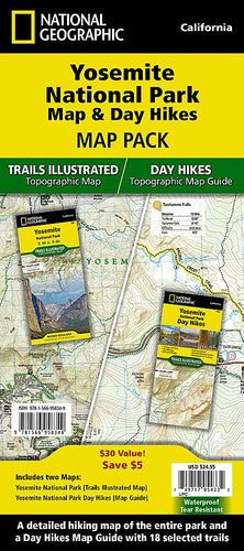 Yosemite National Park Map & Day Hikes [Map Pack Bundle] Trails Illustrated Maps Bundle EVMAPLINK