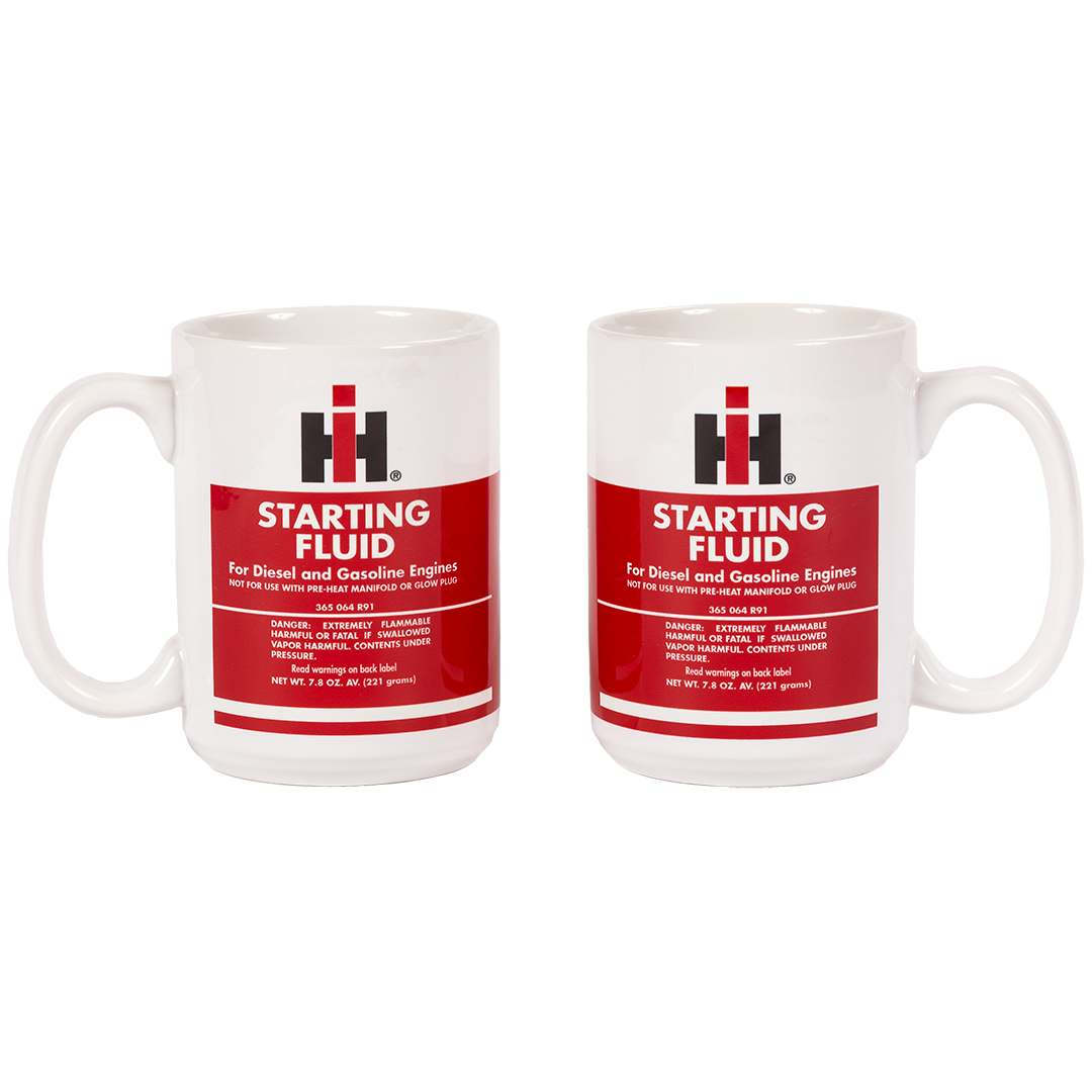 ceramic pair of international harvester coffee mugs