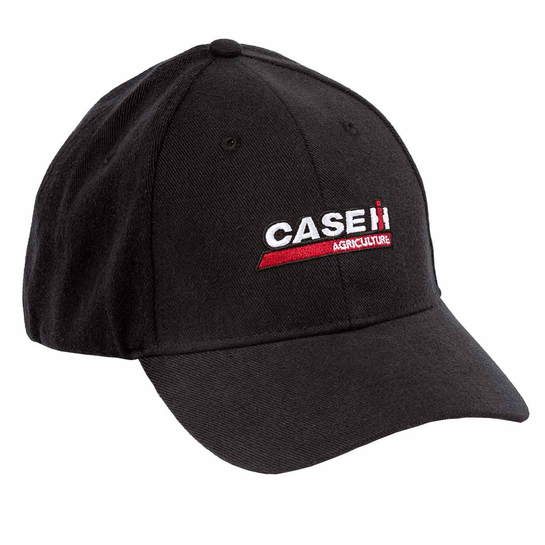 Case IH advertising baseball cap in Black gray and red