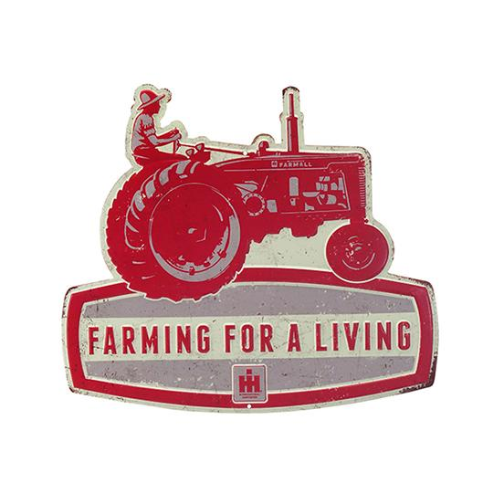 IH Farmall Red Tractor Sign
