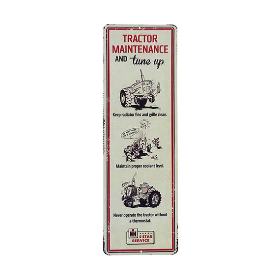 IH Tractor Maintenance Sign