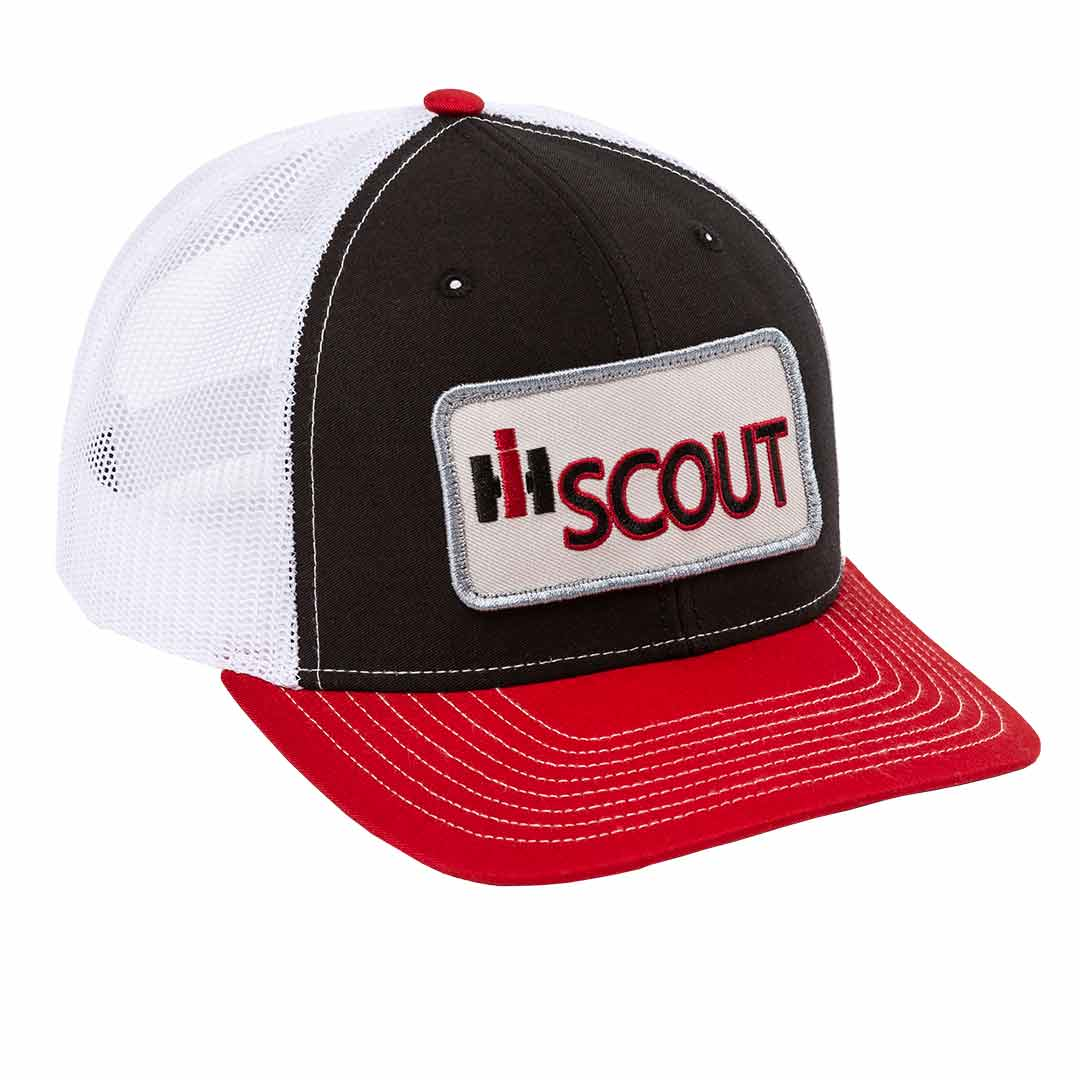 This classic International Harvester hat with a vintage IH Scout patch looks and fits great.