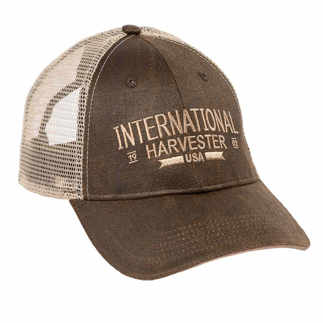 IH Two-Tone Oil Cloth Trucker Cap