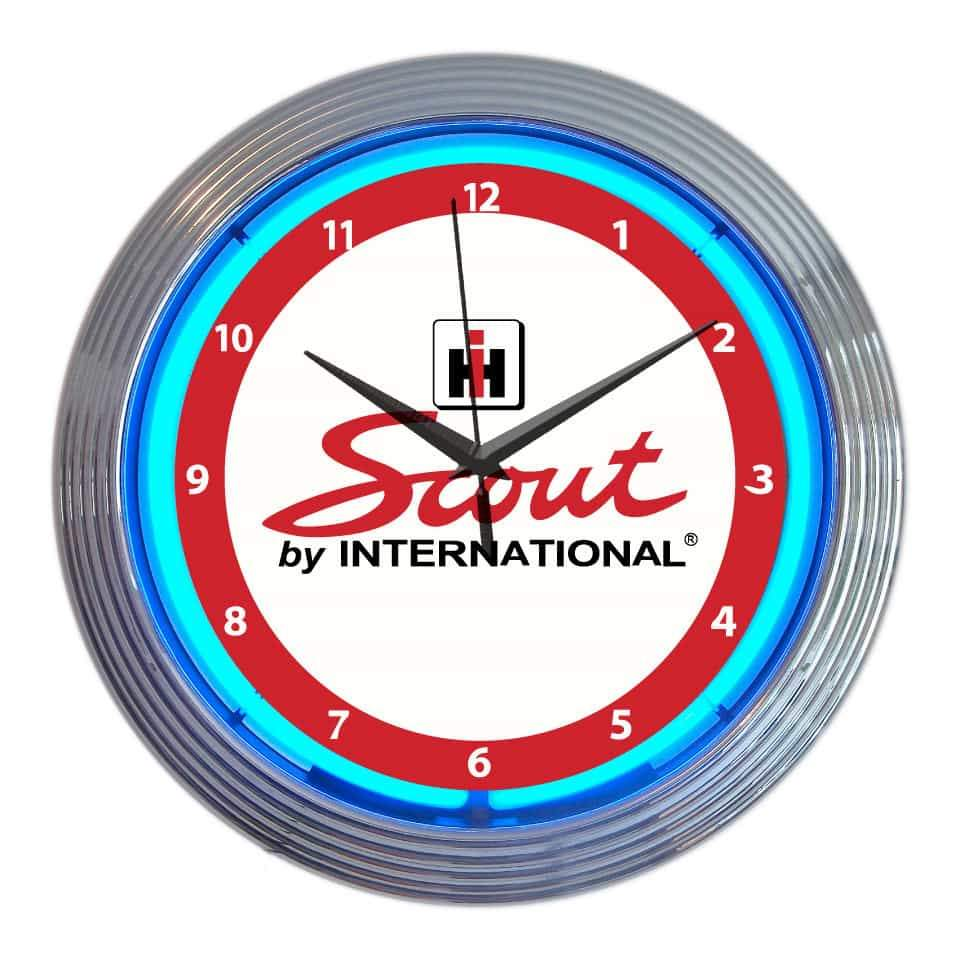International Harvester IH Scout Neon Clock