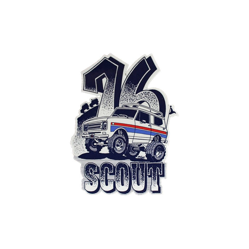 Spirt 76 IH Scout sticker