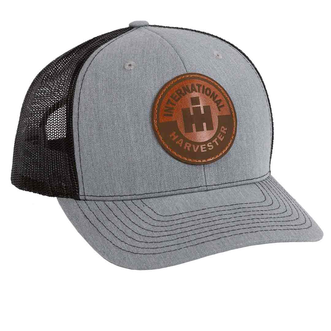 International Harvester Leather Patch Mesh Back Hat