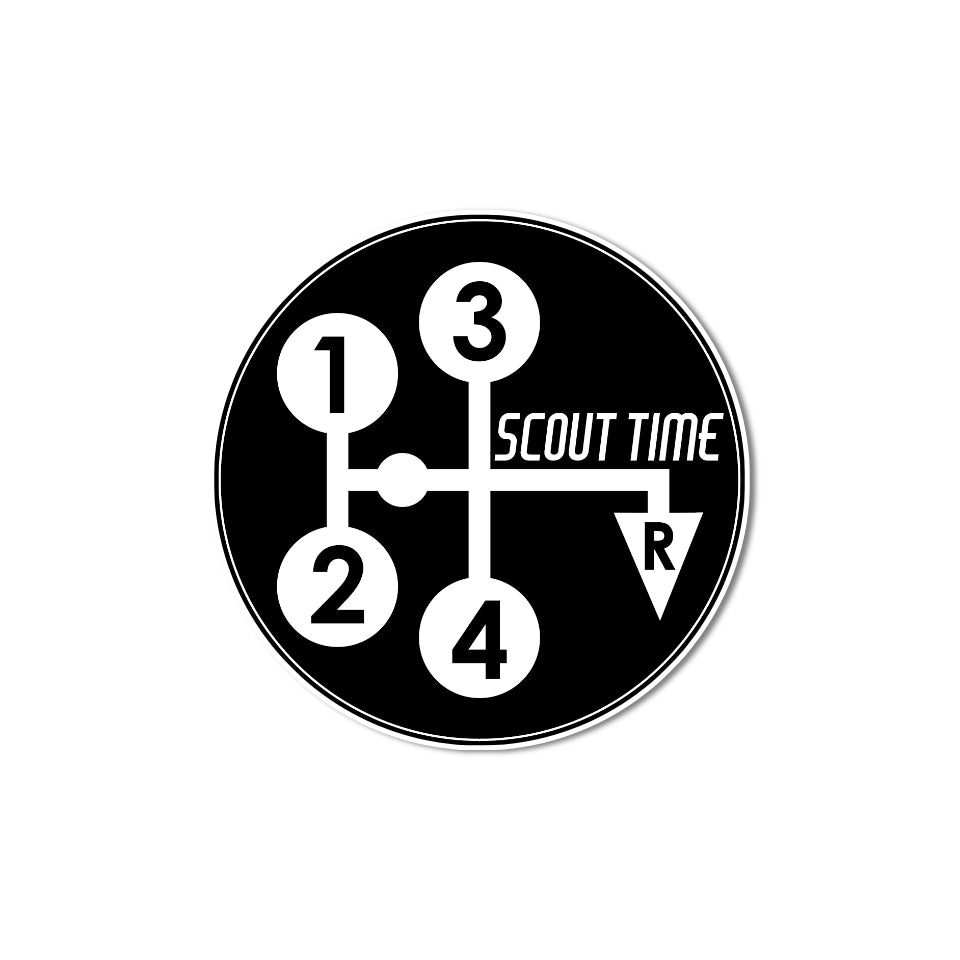 ih scout time sticker