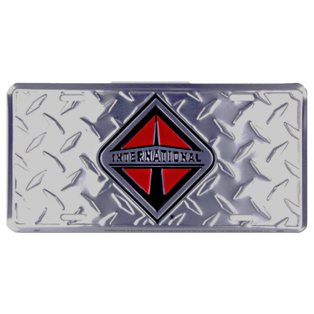 International Truck Chrome License Plate