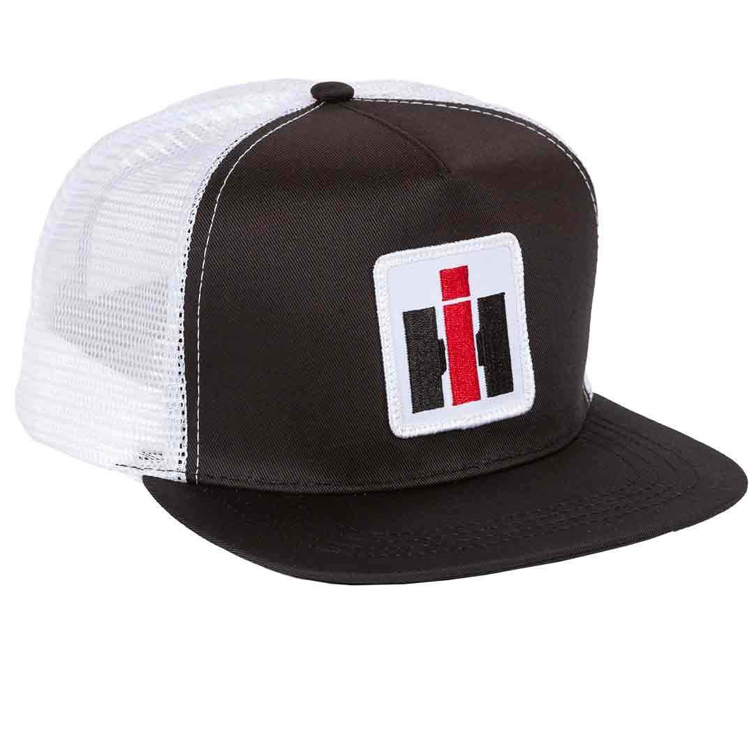 IH HIGH PROFILE BLACK   WHITE MESH BACK CAP 5f6753d41f48