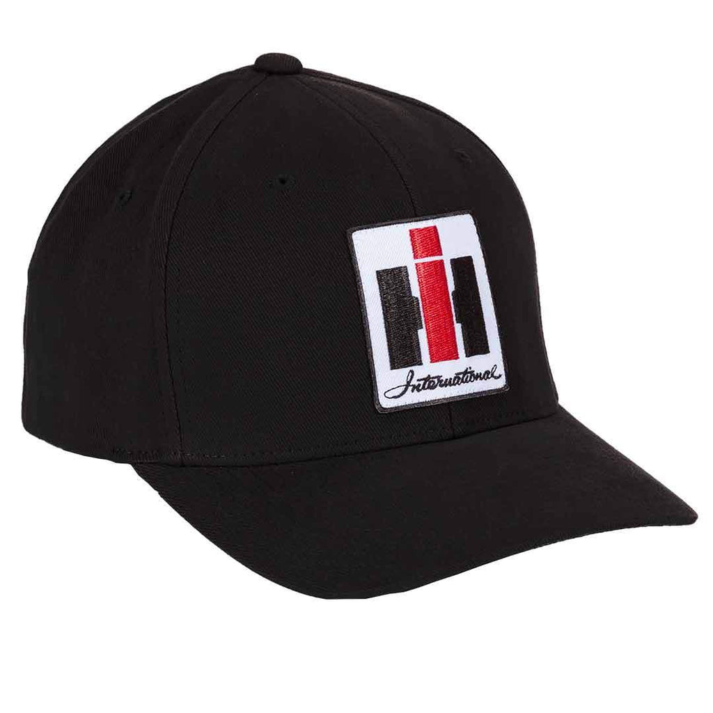 International Harvester Black Flex Fit Logo Hat