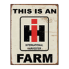 International Harvester Tin Farm Sign