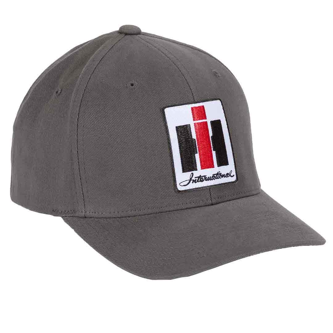 grey flex fit hat with international harvester logo