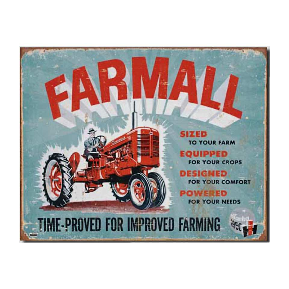 International Harvester FARMALL Time Proven Sign