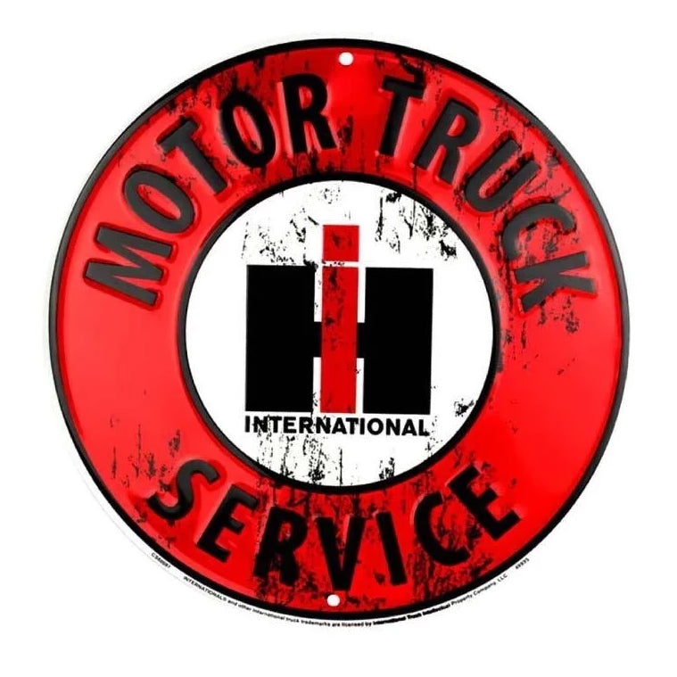 IH Motor Truck Service Sign
