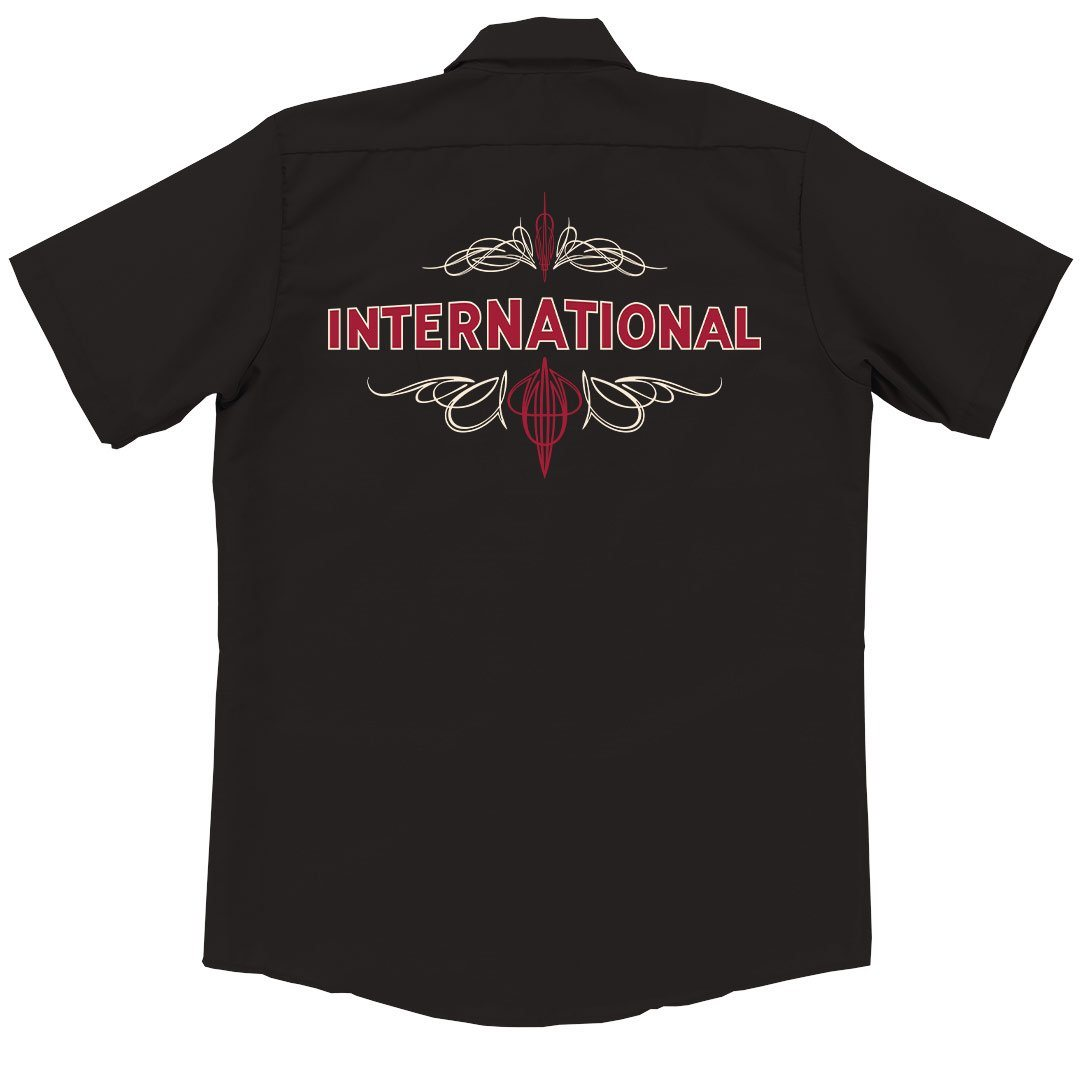 Internatonal Harvester IH Pinstripe Garage Shirt