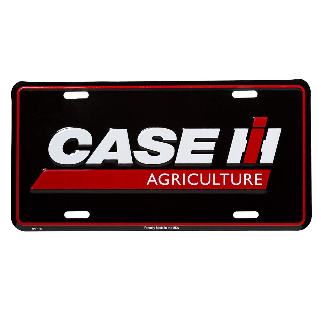Case IH Black License Plate