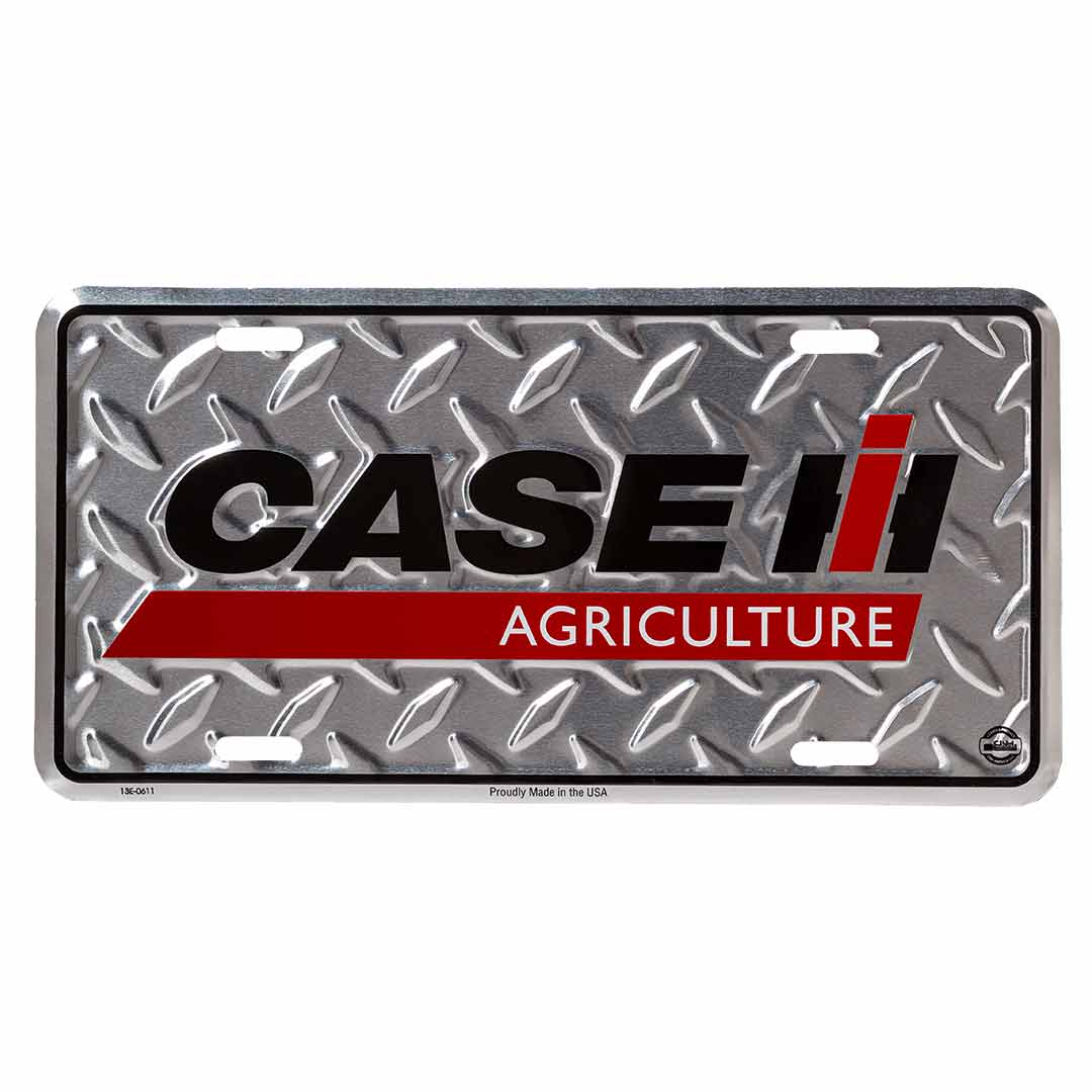 CASE IH Chrome License Plate