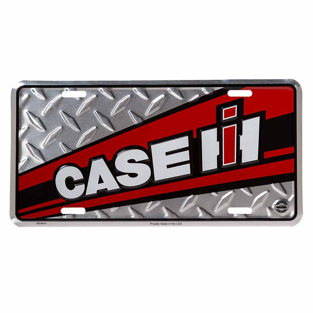 Case IH Red & Black License Plate