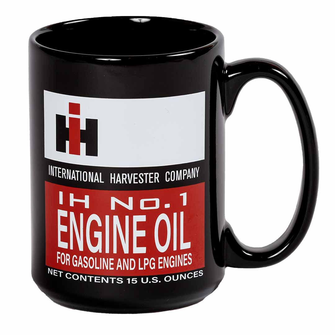 15 oz. black international harvester coffee mug