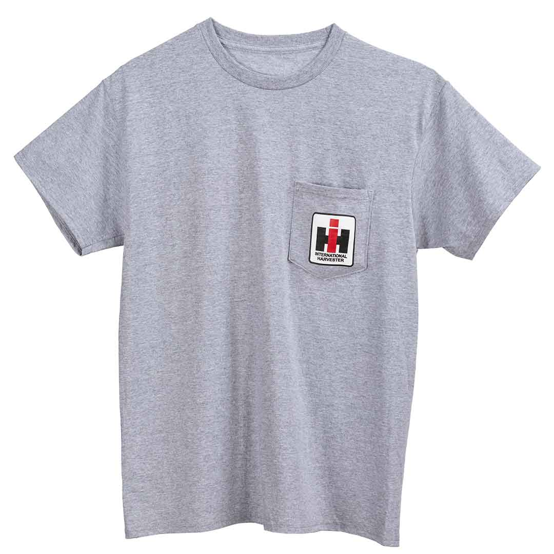 International Harvester IH Pocket T-Shirt Grey