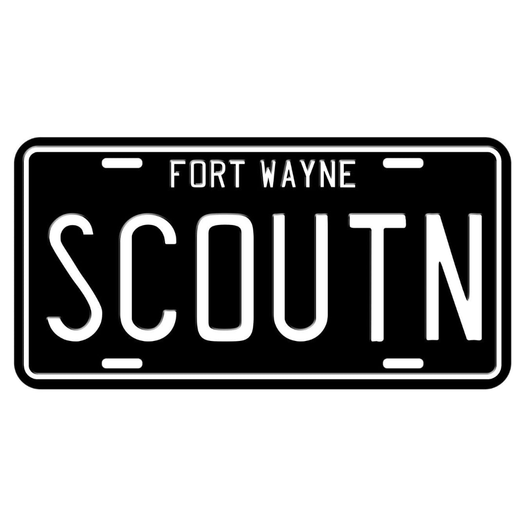 International Harvester Scout license plate.