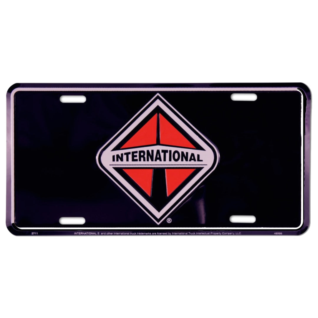 International Truck License Plate Black