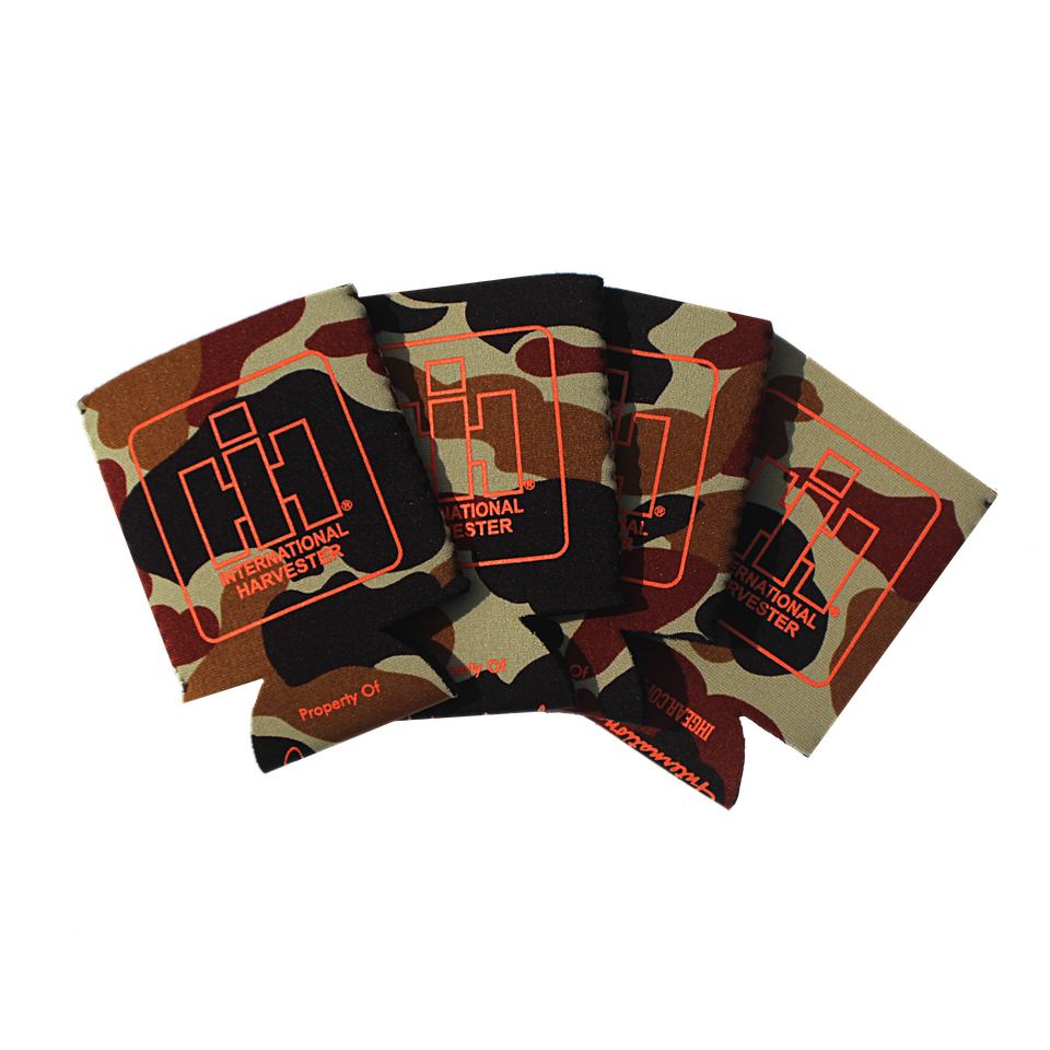 International harvester camo koozie