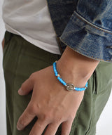 AkasicTree/アカシックツリー WHITE HEART BEADS BRACELET AT-9-1