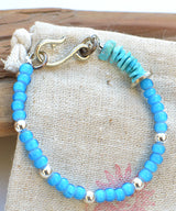 AkasicTree/アカシックツリー WHITE HEART BEADS WIRE BRACELET AT-9-19