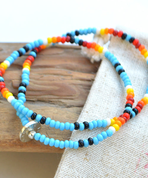 AkasicTree/アカシックツリー GLASS BEADS BRACELET NECKLACE AT-9-32