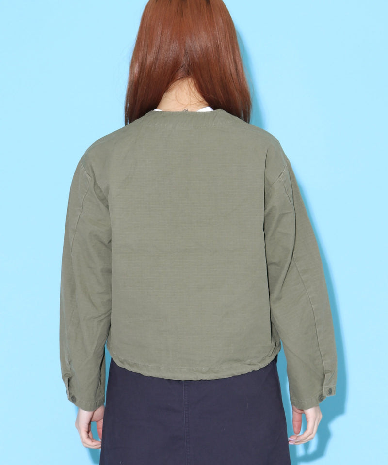 orSlow/オアスロウ NO COLLAR ARMY SHORT JACKET