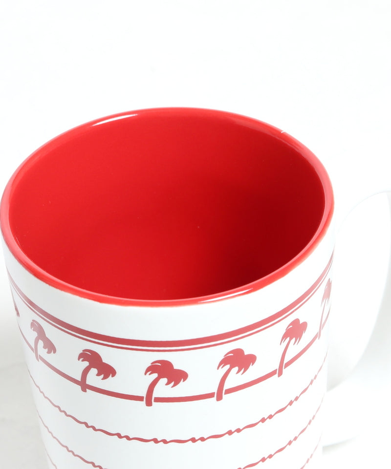 IN-N-OUT BURGER MUG WHITE AND RED マグカップ
