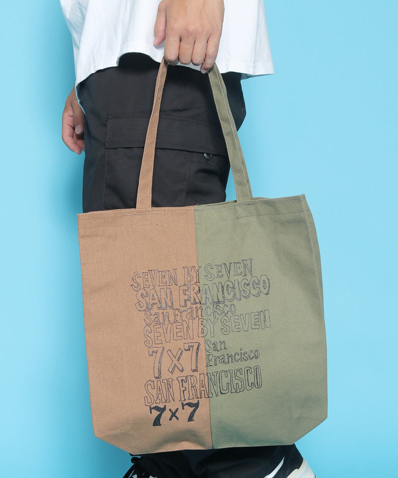 SEVEN BY SEVEN/セブン バイ セブン スーベニア DOCKING TOTE BAG - Logo print - Collaborated by Masakatsu Shimoda トートバッグ