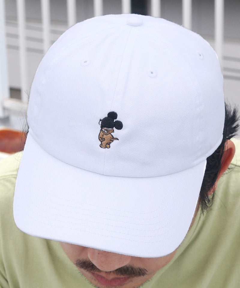 MOUSE IN MOUSE CAP ワンポイント刺繍コットンキャップ