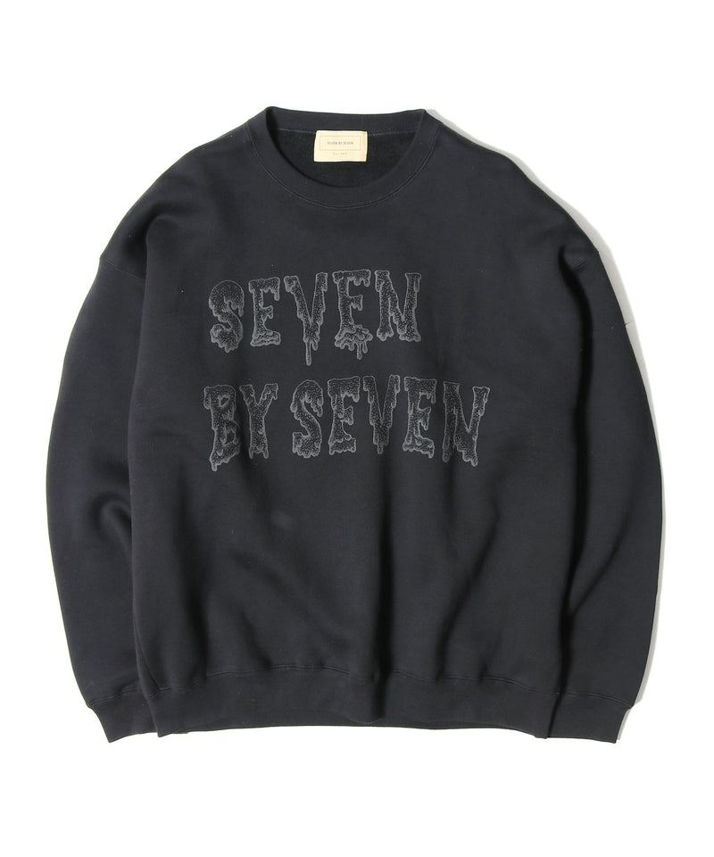 SEVEN BY SEVEN/セブン バイ セブン PULLOVER SWEAT - Foam printting - Collaborated by Shimoda Masakatsu