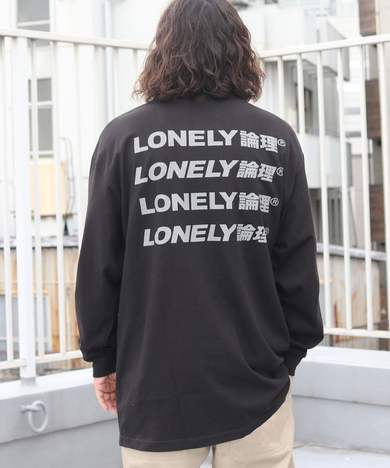 LONELY/論理 ロンリー NEW LOGO L/S TEE