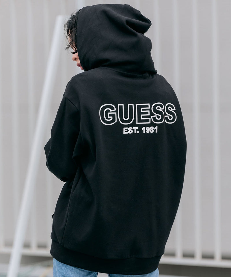 GUESS/ゲス MENS S L/SLV HOODED ZIP ジップパーカー