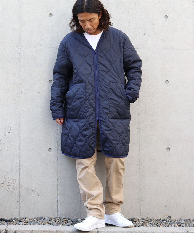 NYUZELESS/ニューズレス MOTOR CYCLE COAT W/MILITARY QUILT LINNER モーターサイクルコート