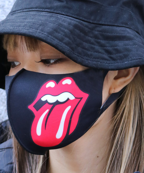 The Rolling Stones Mask Classic Tongue & Repeated Tongue マスク 2枚入り