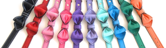 colorful luxury leather bowtie dog collars