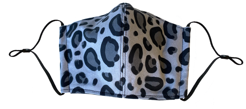 Gray Leopard Face Cover