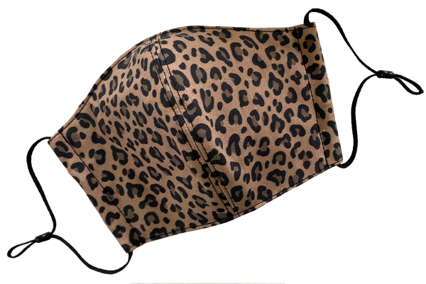 Mocha Latte Leopard Face Cover