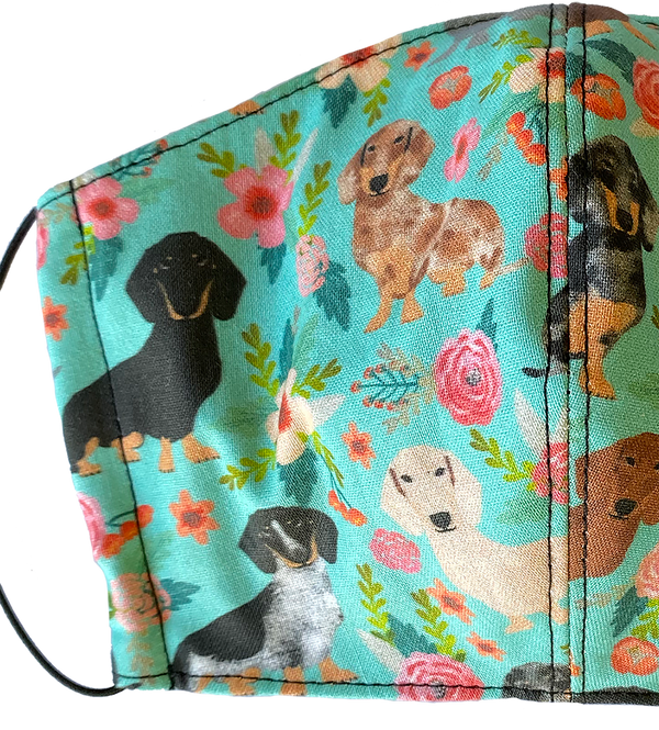 Multi Doxie Face Cover - LuxeMutt