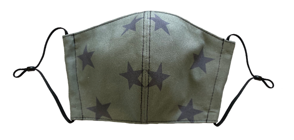 Olive Stars Face Cover