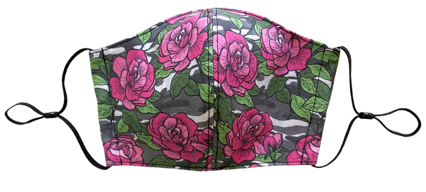 Camo Rose Face Cover